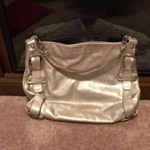 Kooba silver leather shoulder bag
